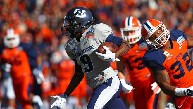 FILE – After starting his college career at Utah State, JoJo Natson became All-Mid-American Conference as a punt returner at Akron.