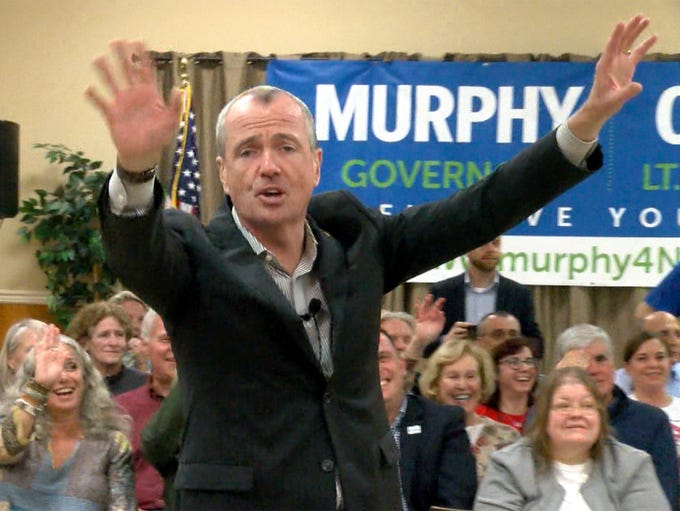 Democratic Gubernatorial candidate Phil Murphy is shown