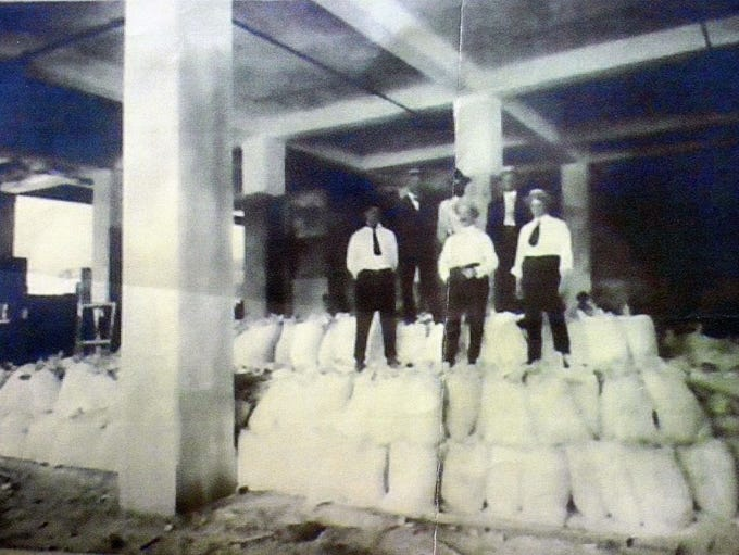 Shown here is a historic photo taken during original