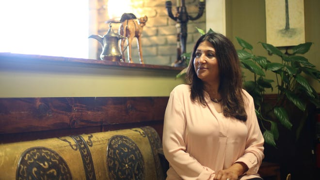 Sophia Al-Siroa, owner of Sahara Greek and Lebanese Cafe.