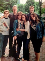 The Pardington family, including Max, before his death. From left are Jack, John, Lisa, Emily, Max and Claire.