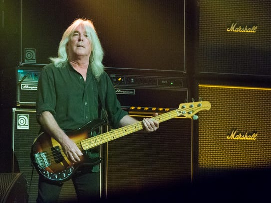 Cliff Williams of AC/DC performs at Nationwide Arena