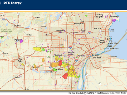 DTE Energy: 50,000 without power in Detroit area