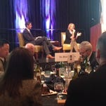"""Ann Romney, right, spoke about her fight against multiple sclerosis at the """"Taste of Generosity"""" event in West Des Moines."""
