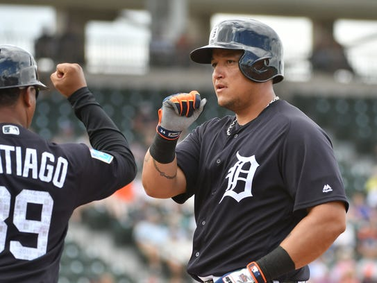 Fans still like Miguel Cabrera, who sits third at first