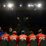 Members of the Port Huron Prowlers sign autographs and thank their fans Sunday, April 24, at McMorran Theatre.
