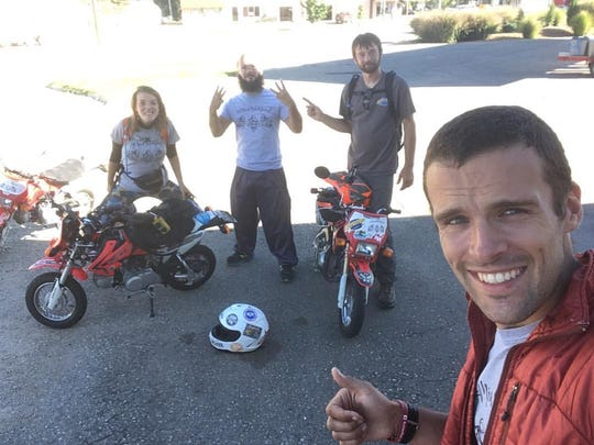 Four adventurers have experienced life on the open road in their 1,500 mile pocketbike trip.