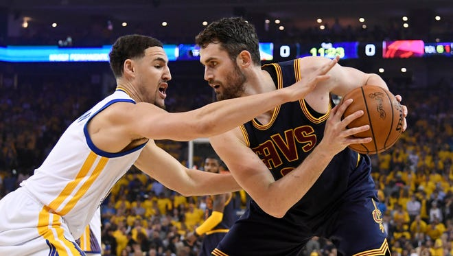 Kevin Love will assume the center role for the Cleveland Cavaliers.