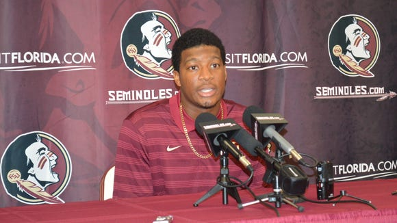 Jameis Winston during Wednesday's news conference.