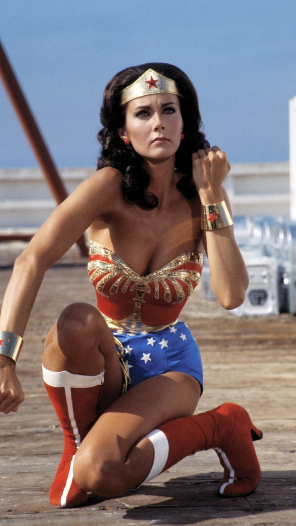 Lynda Carter, here in character as Wonder Woman in