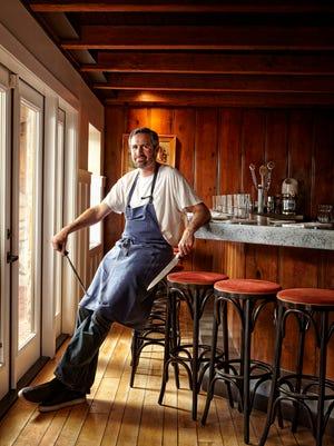 Chef Kevin Binkley at Bink's Midtown bar in Phoenix.