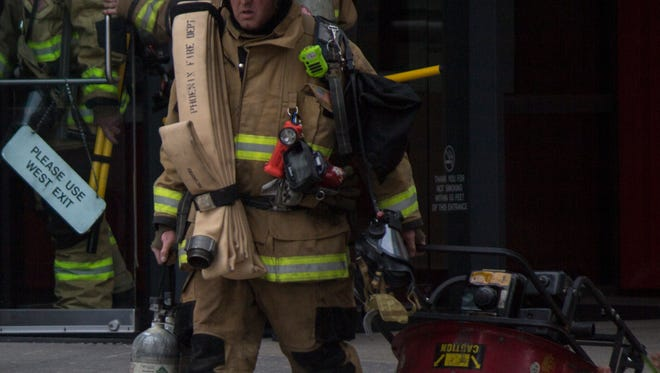 Fire crews remained at the scene of a high-rise fire call at  2700 N. Central Avenue until 1 p.m. on Saturday afternoon.