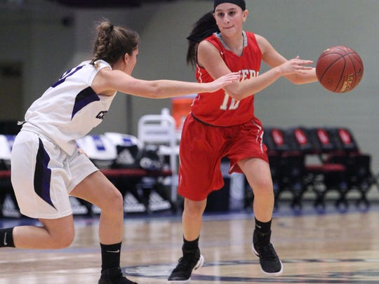 Somers' Dani DiCintio, a sophomore poing guard, was integral in leading the Tuskers to the Class A state semifinals last season.