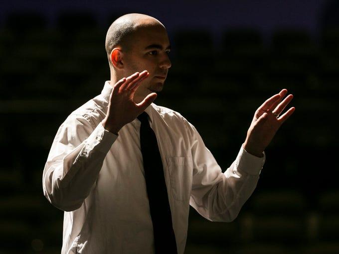 Shadow Mountain High School's band director, Natan