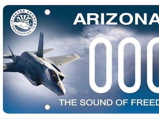 ADOT's Luke Air Force Base license plate