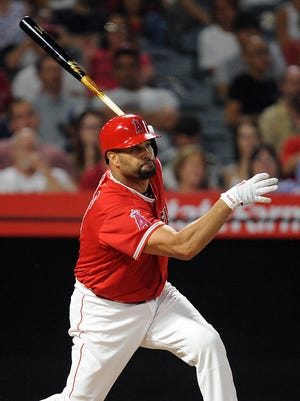 Albert Pujols passed Ken Griffey Jr. for sixth place on the career home run list.