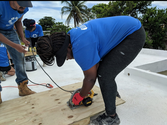 Amena-Devine Ruffin joins SUNY New Paltz deployment to aid recovery effort in Puerto Rico.