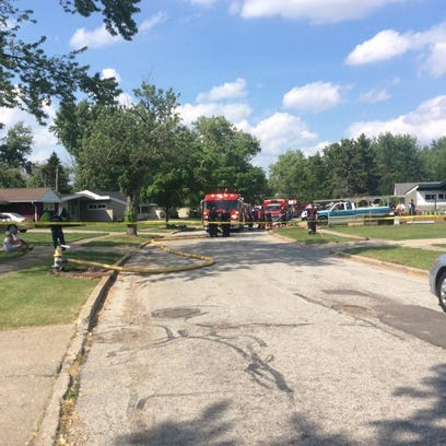 May 27, 2015: A house fire on Newbury Lane  in Parma