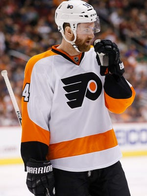 Sean Couturier and the Flyers end the regular  season with four games in five days.