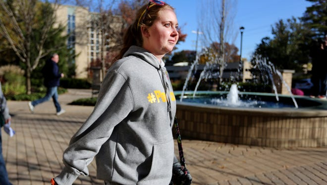 Lauren Hill, a freshman at Mount St. Joseph University who is battling brain cancer.