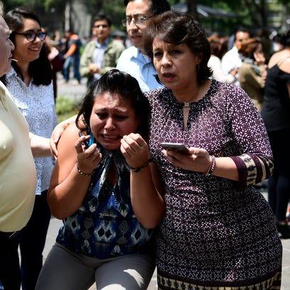 Algunas personas en la Cd. de México entraron en shock