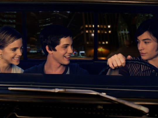Logan Lerman (center) had one of his best roles in