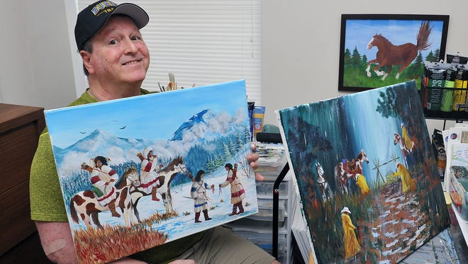 Former Buena track coach Steve Kordos, who cannot speak after a stroke in 2005 now spends his days painting.