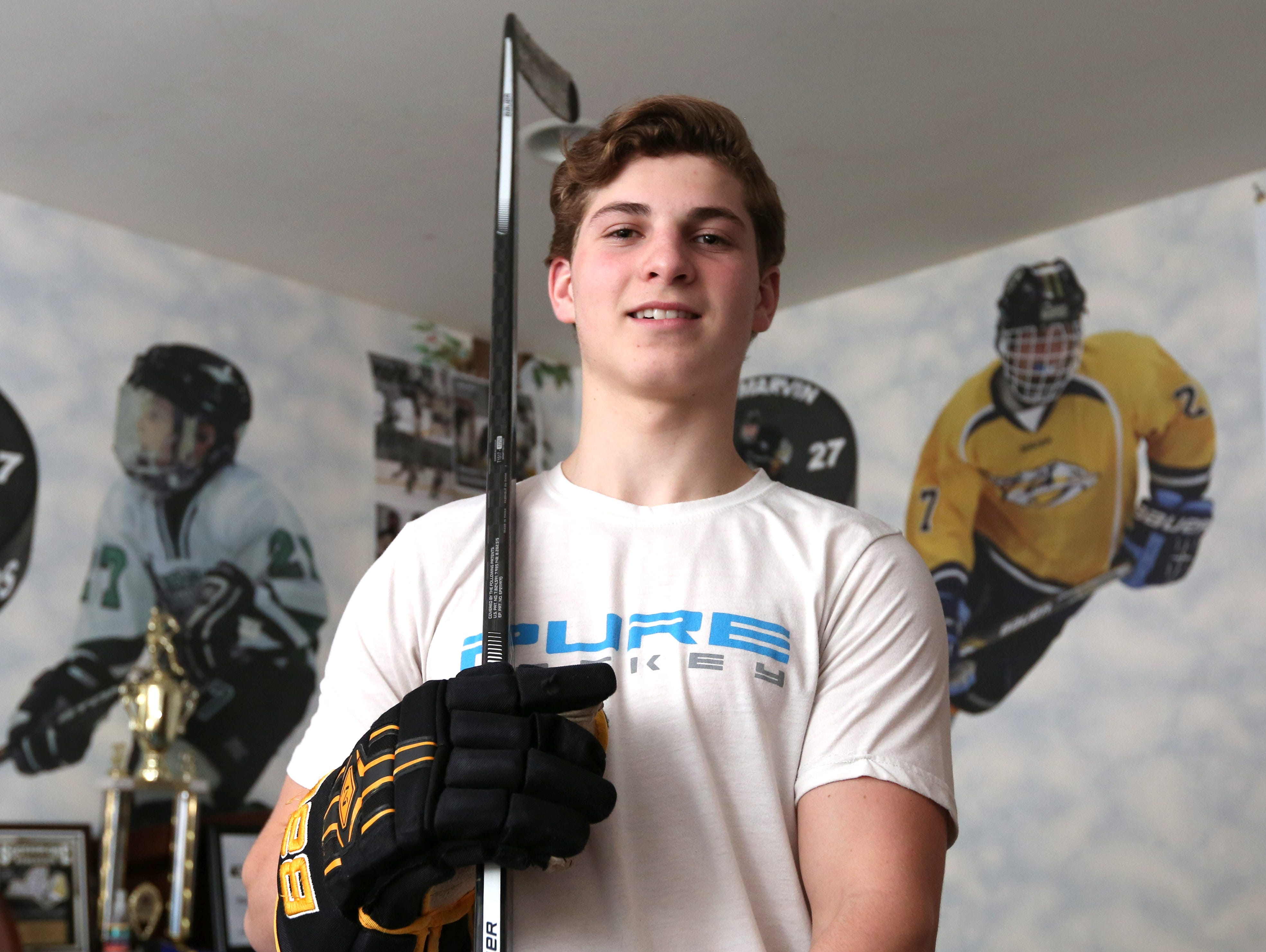 Rockland hockey player of the year, Clarkstown's Adam Marvin April 1, 2016.