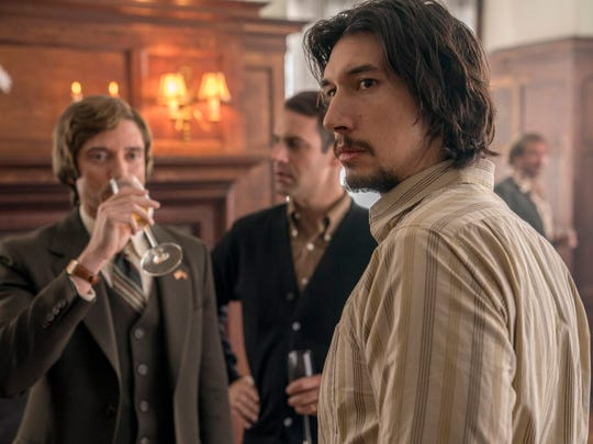 Flip Zimmerman (Adam Driver, right) stands in for black