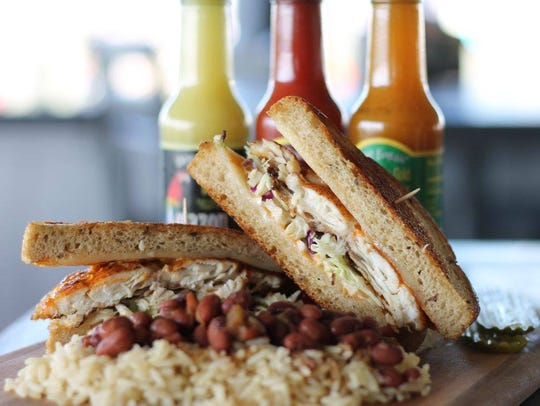 Dixie Fish Co. offers sandwiches with grouper or its