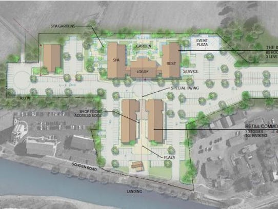 A rendering of a proposed Wilmorite development at