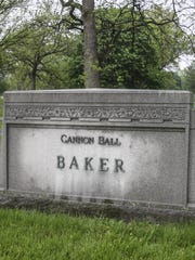 Baker's grave, Crown Hill Cemetery, Indianapolis