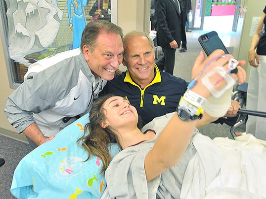 John Beilein with Izzo at Royal Oak Beaumont Hospital Edit- Add More