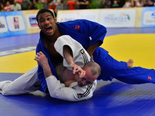 Colton Brown in action against Great Britain in 2013
