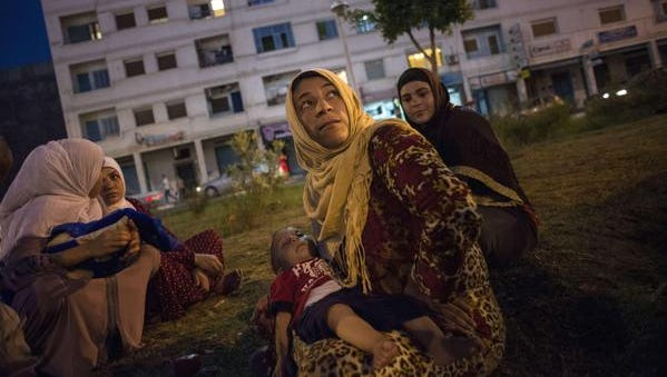 Syrian refugees arrive in Spain on Sept. 13, 2015.