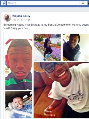 Ja'Donte Thompson, 17, was fatally shot in a scuffle with two robbers who broke into his family home, Metro police said.