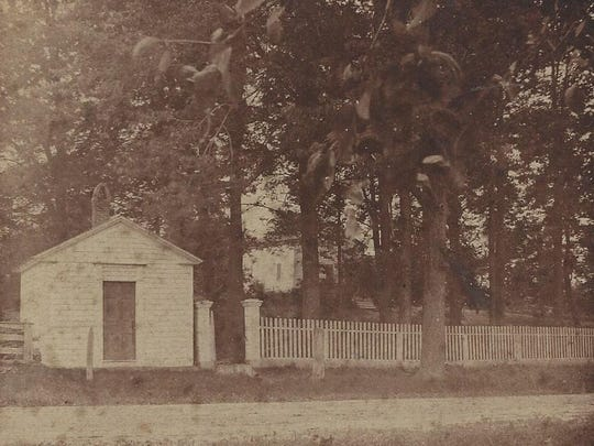 Dr. Samuel Bradley's office on Manitou Road, south of Ridge Road. His house was on the hill behind.