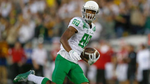 Oregon WR Dwayne Stanford is proud to represent Cincinnati on Monday night for the Ducks.