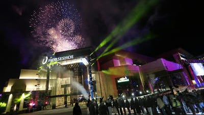Horseshoe Casino Cincinnati on opening night in 2013.