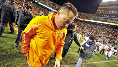 """Butch Jones was unhappy when """"Sweet Home Alabama"""" was played at a recent Vols football practice."""