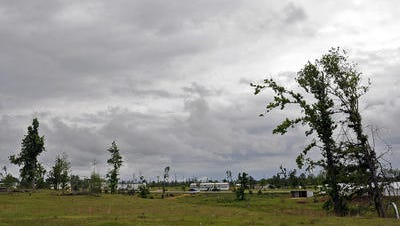 In this April 18, 2012, file photo, tornado damage is still apparent in an area of Elmore County almost one year after catastrophic weather in April 2011.
