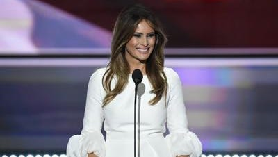 Melania Trump, speaking at the Republican National Convention
