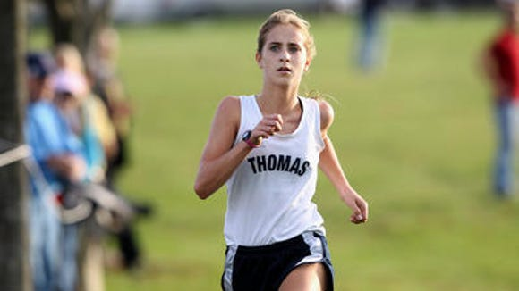 Webster Thomas freshman Amanda Vestri and her teammates are No. 1 in the Section V Girls Country Coaches Poll.