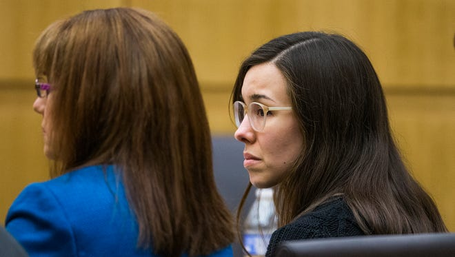 Jodi Arias listens as Judge Sherry Stephens declares a mistrial on Thursday. This is the second time a jury was unable to reach consensus on whether Arias should be sentenced to life or death in the murder of former lover Travis Alexander.