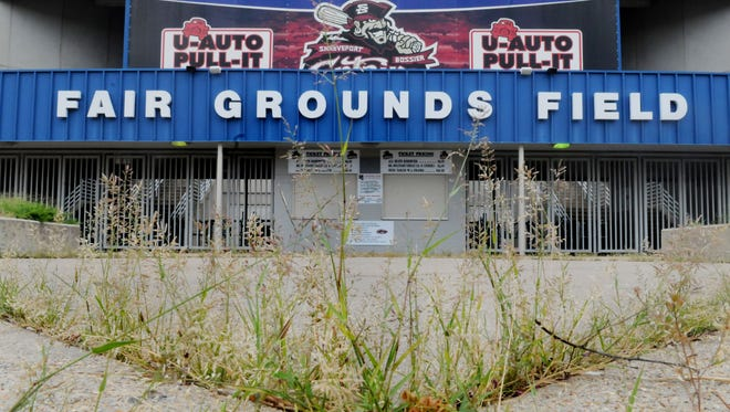 This a 2012 photo of Fair Grounds Field.