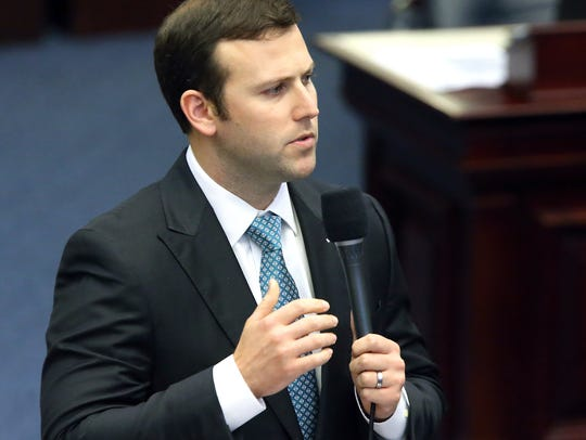 Florida Rep. Chris Sprowls, R-Palm Harbor, presents