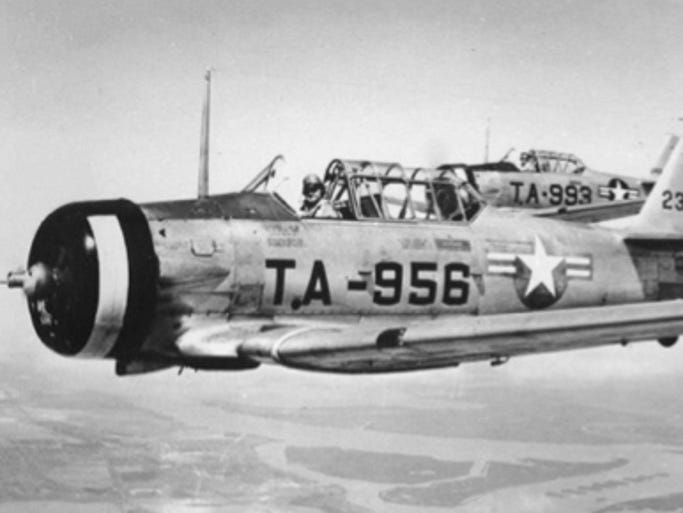 THEN: The Grumman AT-6 trainer was the first plane