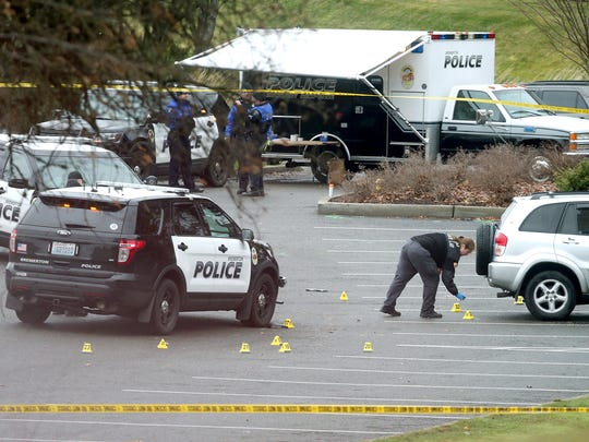 Two Bremerton Police officers were injured in a shootout early Sunday morning with a man they say was suspected of violating a domestic violence protection order.