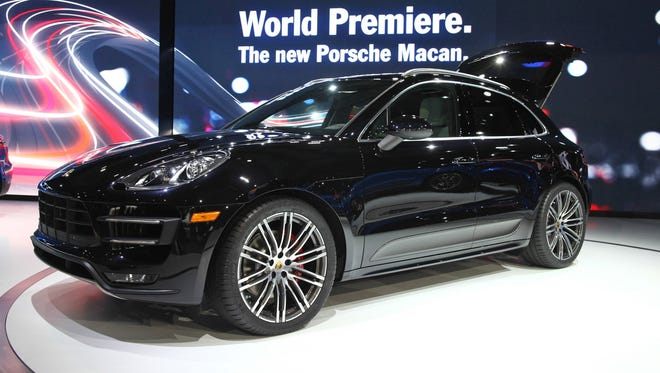 The new Porsche Macan small urban crossover SUV that had its global unveiling at the 2013 Los Angeles Auto show.