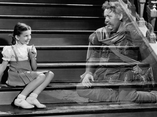 Publicity still from The Canterville Ghost with Charles Laughton---1944 MGM.